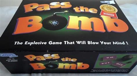 MY VIDEO OF PASS THE BOMB BOARD GAME WITH BATTERY TICKING