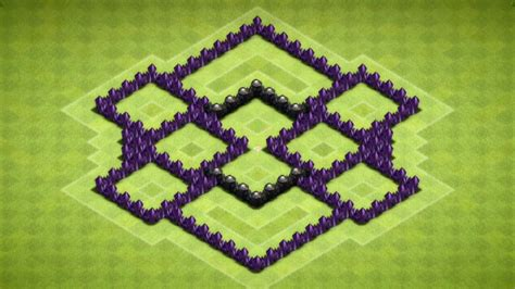 Clash Of Clans - Town Hall 6 Farming Base (The Decagon