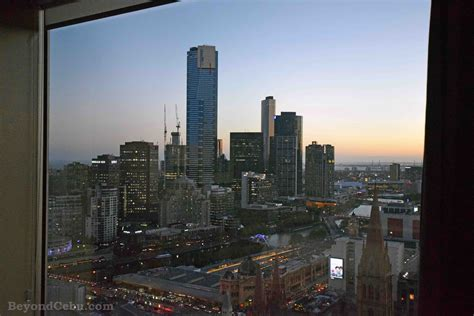 Window view of Melbourne from the Grand Hyatt Hotel