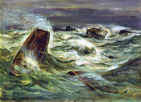 Stormy Weather: Normandy Beaches June, 1944 - Painting