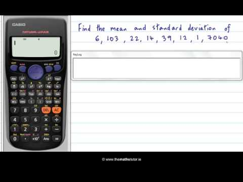 Standard deviation, variance and mean on the TI II Plus