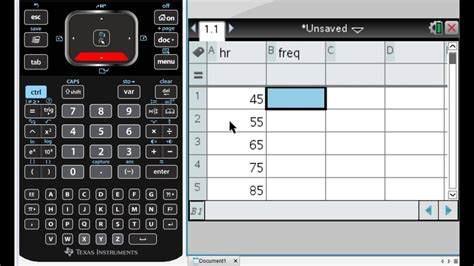 TI-nspire - Calculating Mean and Standard Deviation of