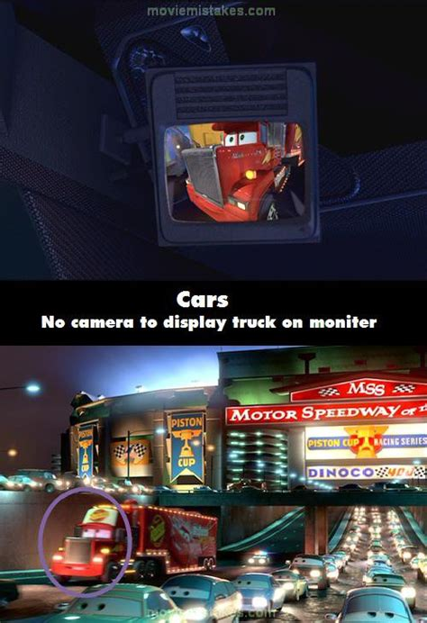 Cars (2006) movie mistake picture (ID 114264)