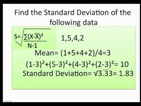 How to find the Range, Variance and standard deviation