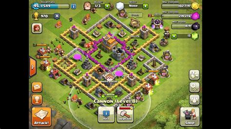 Clash of clans town hall level 7 best defense strategy